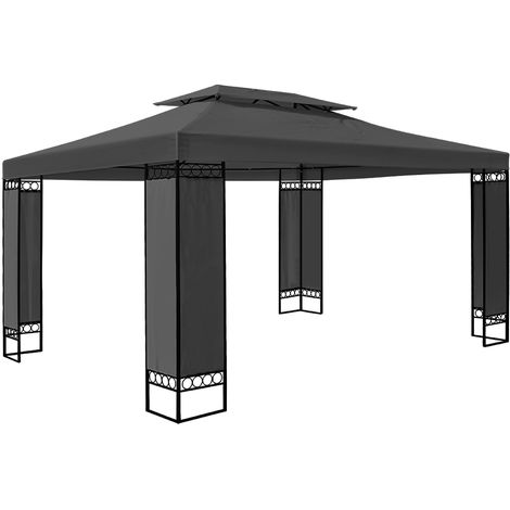 """main image of """"Garden Gazebo 3x4m Marquee BBQ Party Tent Canopy Outdoor Patio Steel Frame Large"""""""