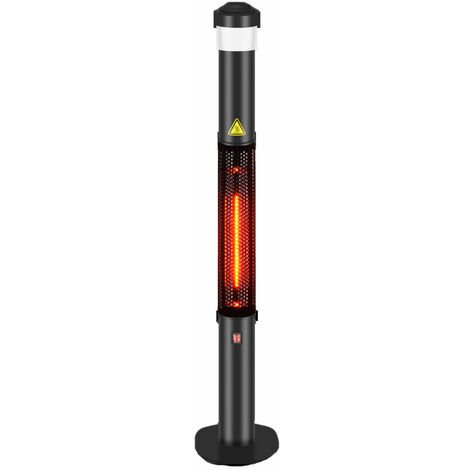 """main image of """"Garden Glow Patio Electric Heater with led light and bluetooth speaker"""""""