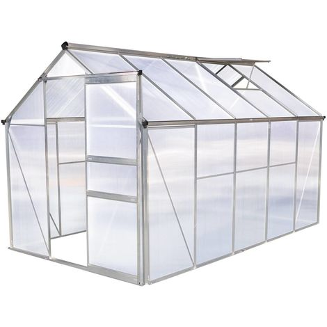 Garden greenhouse polycarbonate Hortensia transparent 6m²