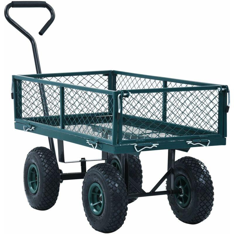 BMC Heavy Duty 250kg Garden Outdoor Utility Hand Cart Steel Truck Trolley