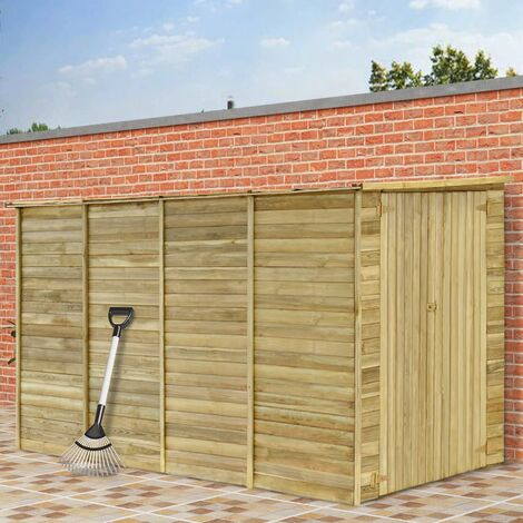 Garden House Shed 315x159x178 cm Impregnated Pinewood - Brown
