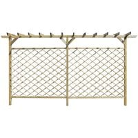 Garden Lattice Fence with Pergola Top FSC Wood