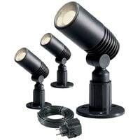 Garden Lights LED-Strahler Alder 3 Stück 2 W Anthrazit 2580063