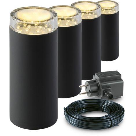 Garden Lights Linum 4er Set – Stehlampe Anthrazit