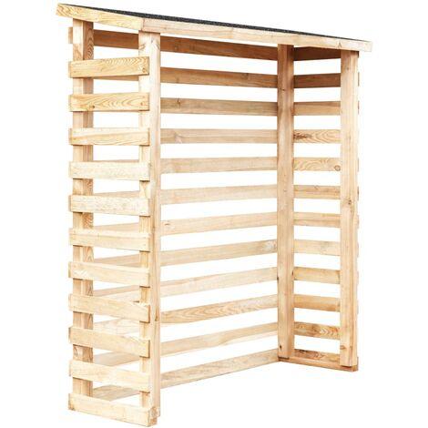 Garden Log Shed 160x50x170 cm Pinewood