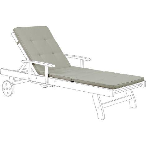 Sun Lounger Pad Cushion Taupe TOSCANA/JAVA