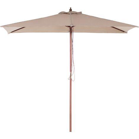 Garden Market Parasol 1.44 x 1.95 m Sand Beige FLAMENCO