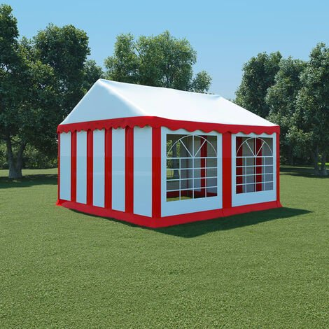 Garden Marquee PVC 4x4 m Red and White