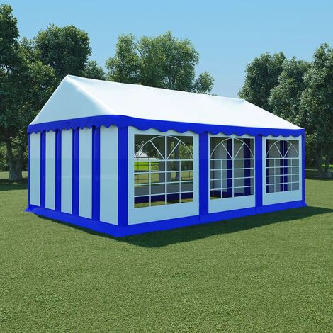 Garden Marquee PVC 4x6 m Blue and White