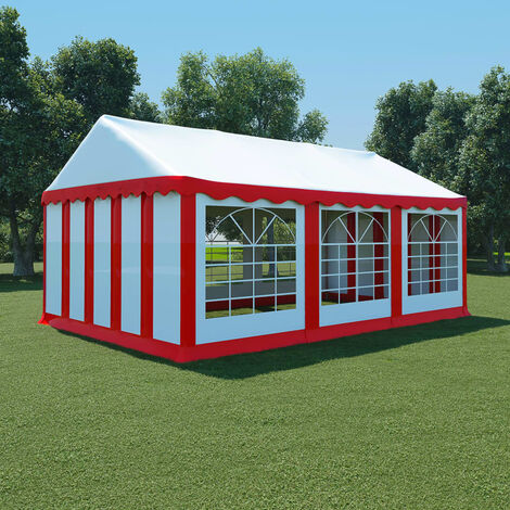Garden Marquee PVC 4x6 m Red and White - Red