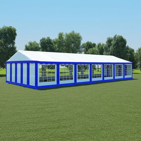 Garden Marquee PVC 6x14 m Blue and White - Blue