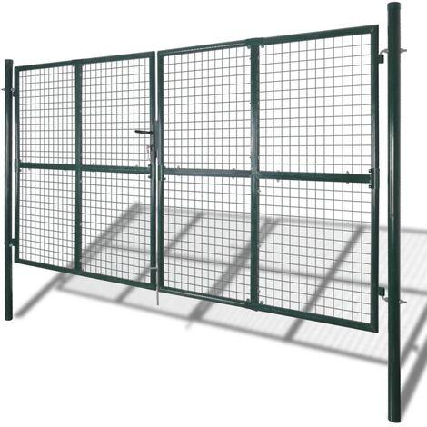 Garden Mesh Gate Fence Door Wall Grille 289 x 175 cm QAH03765