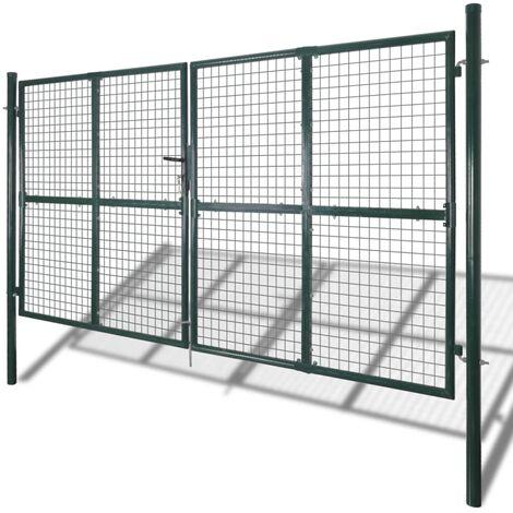 Garden Mesh Gate Fence Door Wall Grille 289 x 200 cm QAH03766