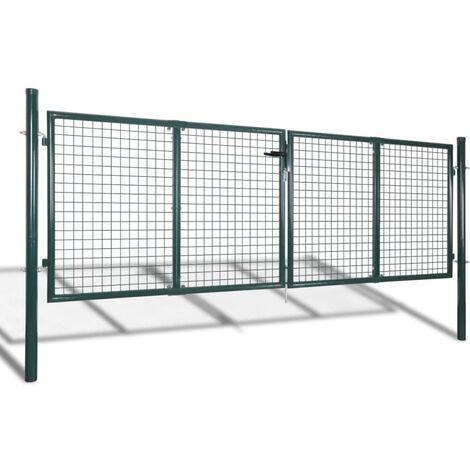 Garden Mesh Gate Fence Door Wall Grille 289 x 75 cm QAH03764