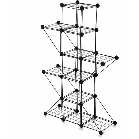Garden metal flower pot plant stand (5 grids 5 corners)