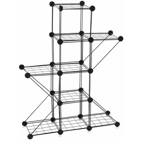 Garden metal stand flower pot plant stand (4 grids 4 corners)