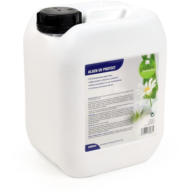 garden moments Anti-algues Protection UV 5000ml Traitement 400.000l Eau Bassin Anti-Prolifération