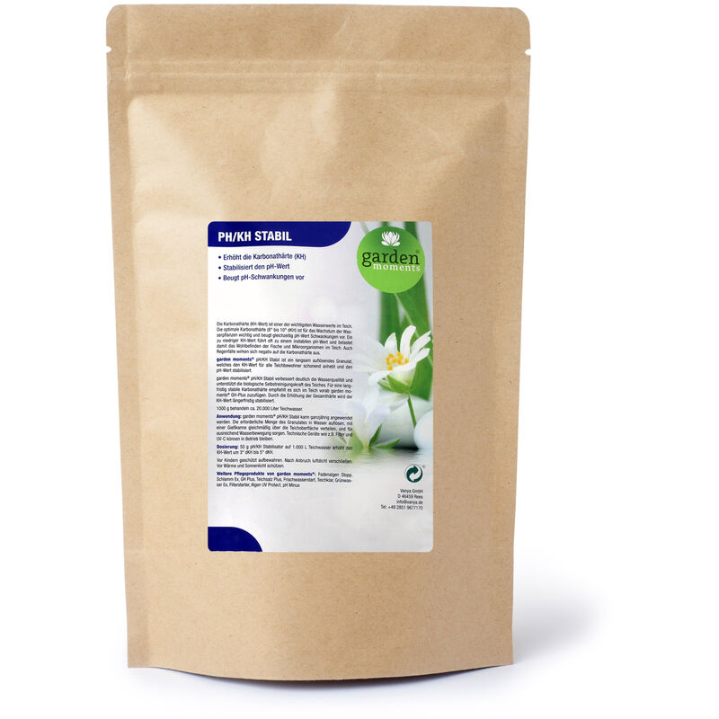 garden moments pH/KH Stable 1 000g, traitement de 20 000l, règle la dureté carbonate (DC)