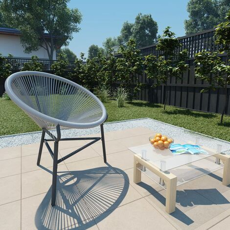 Garden Moon Chair Poly Rattan Grey - Grey