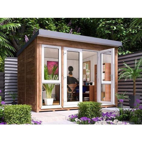 Garden Office Titania - Insulated Studio Pod Home Office Study Room Double Glazing Toughened Glass