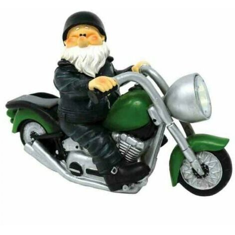 """main image of """"Garden Ornament Wilf Gnome on Motorbike Born To Be Wild"""""""