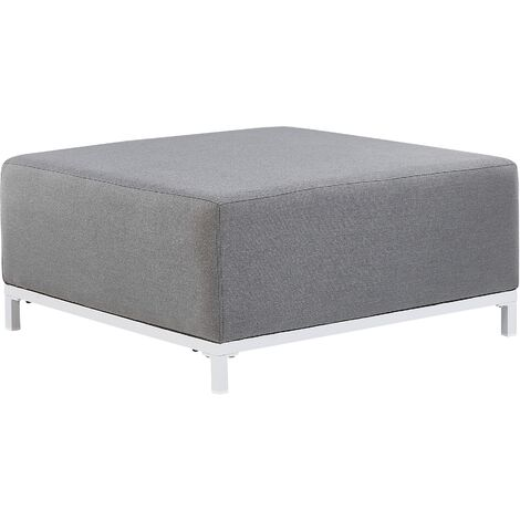 Garden Ottoman Grey with White ROVIGO
