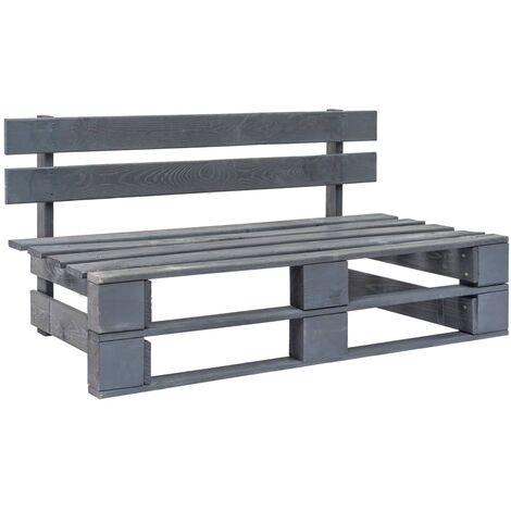 Garden Pallet Bench Wood Grey
