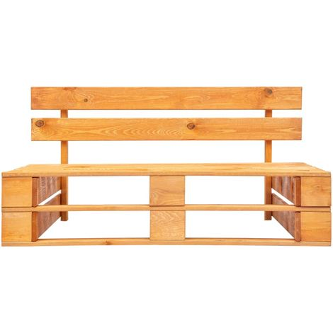 Garden Pallet Bench Wood Honey Brown