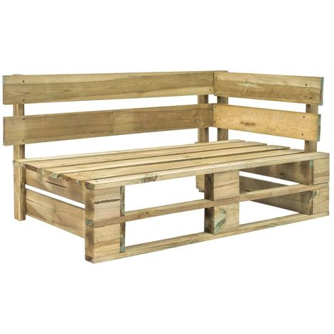 Garden Pallet Corner Bench FSC Wood Green