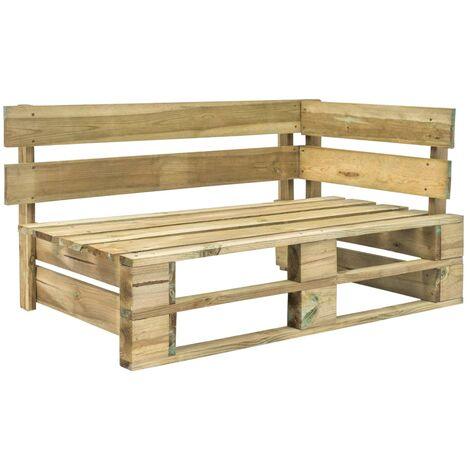 Garden Pallet Corner Bench Wood