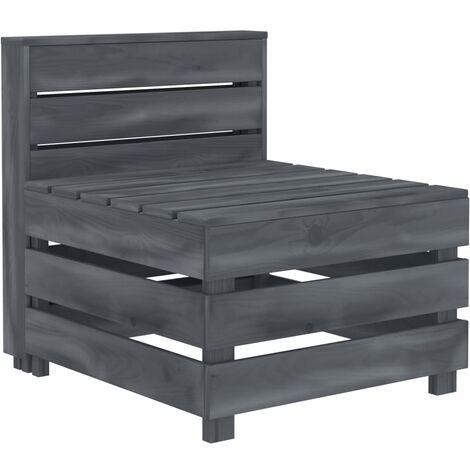 Garden Pallet Sofa Wood Grey - Grey