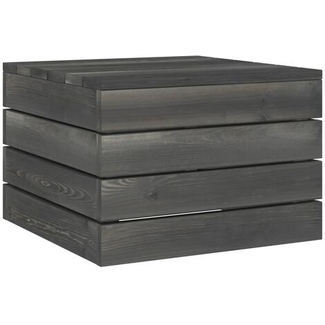 Garden Pallet Table Solid Pinewood Dark Grey