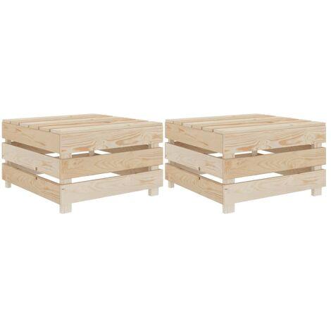 Garden Pallet Tables 2 pcs Wood