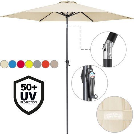 Garden Parasol Umbrella Large 3m UV-Protection 40+ Sun Shade Patio Canopy
