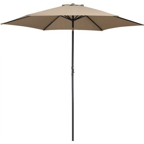 Garden Parasol Umbrella Large 3m UV-Protection 40+ Sun Shade Patio Canopy terracotta (de)
