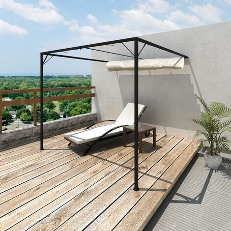 Garden Patio Awning Sun Shade Canopy Wall Gazebo