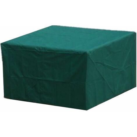 Garden Patio Furniture Cover Covers Outdoor Waterproof Rattan Table Cube Seat WASHED - Vert