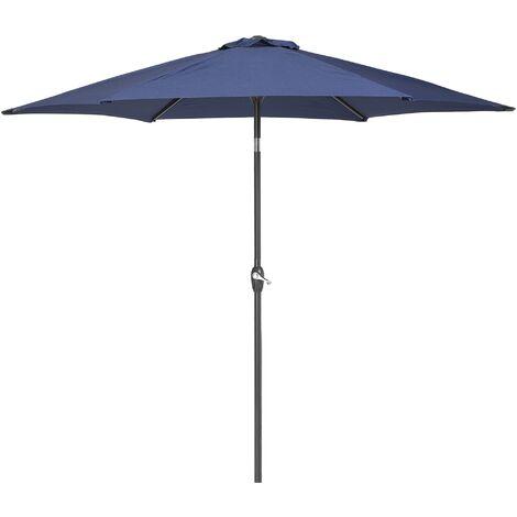 "main image of ""Garden Patio Outdoor Market Umbrella Parasol Metal Pole Navy Blue Varese"""