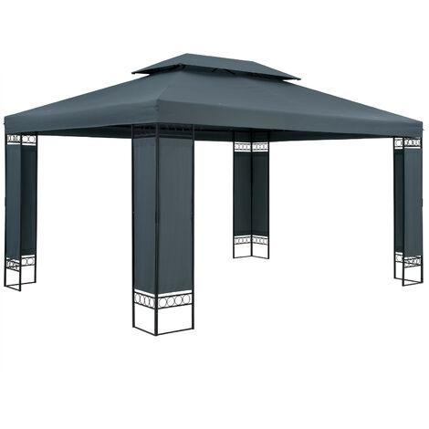 Garden Pavilion Elda Outdoor Patio Canopy Shelter 3x4m Gazebo Red