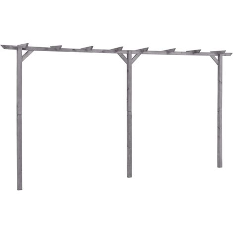 Garden Pergola Grey 400x40x205 cm Impregnated Pinewood