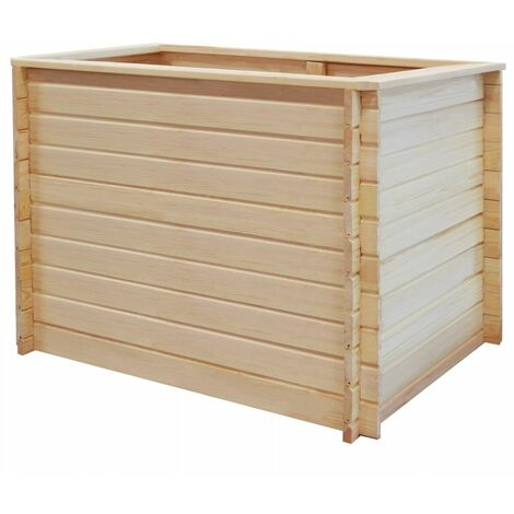 Garden Planter 100x100x80 cm Pinewood 19 mm