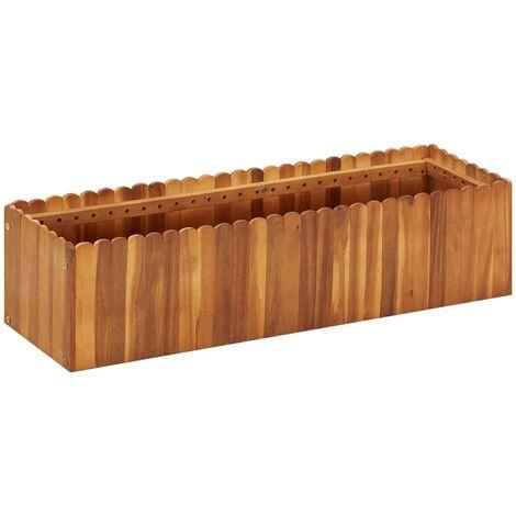 Garden Planter 100x30x25 cm Solid Acacia Wood