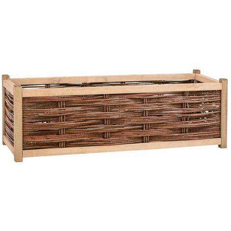 Garden Planter 120x40x40 cm Solid Pine Wood