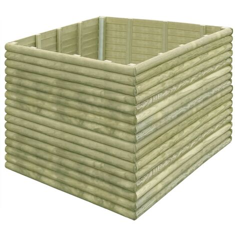 Garden Planter 150x150x96 cm Impregnated Pinewood 19 mm