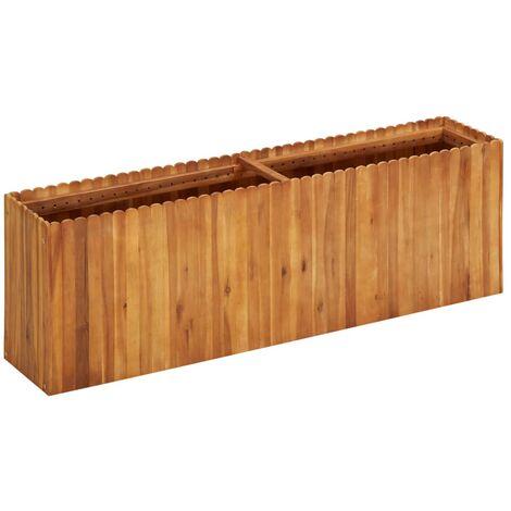 Garden Planter 150x30x50 cm Solid Acacia Wood