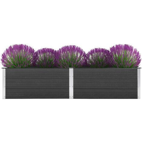 Garden Planter 250x50x54 cm WPC Grey