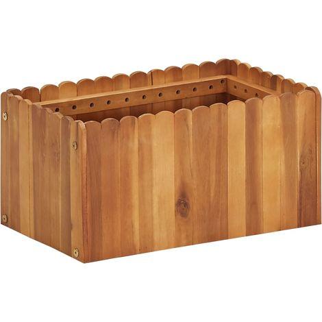 Garden Planter 50x30x25 cm Solid Acacia Wood