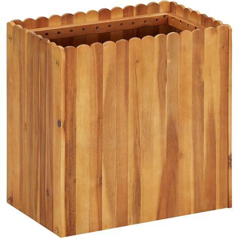 Garden Planter 50x30x50 cm Solid Acacia Wood