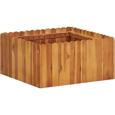 Garden Planter 50x50x25 cm Solid Acacia Wood