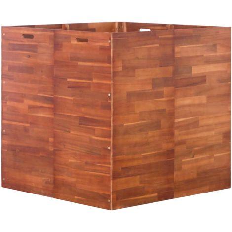 Garden Planter Acacia Wood 100x100x100 cm